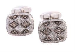 A pair of diamond cufflinks by Mouawad