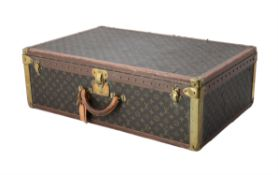 Louis Vuitton, Monogram, a coated canvas and leather hard suitcase