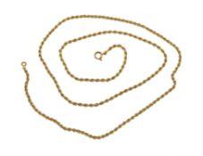 A continental gold coloured chain