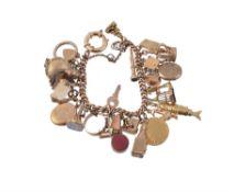 A vintage charm bracelet