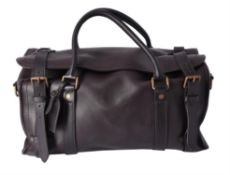 Louis Vuitton, a brown leather Keepall