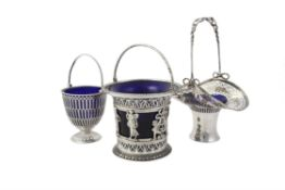 A Victorian silver cylindrical basket by William Wrangham Williams