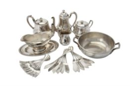 Y A French electro-plated four piece baluster tea set by Chrisofle