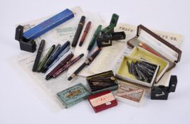 A collection of fountain pens
