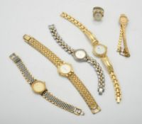 A collection of ladies bracelet watches