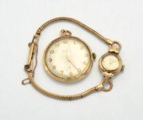 Summit, 9 carat gold nurse watch