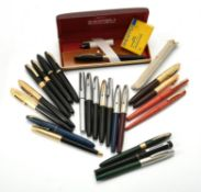 Sheaffer, a collection of fountain pens
