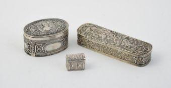 A Dutch silver oblong box