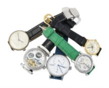 A collection of wrist watches