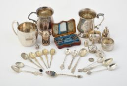 Y A collection of silver items