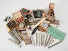 A collection of various fountain pen nibs