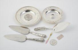 A silver armada dish by C. J. Vander Ltd.