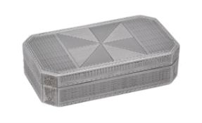 An Austrian silver rectangular box with cut corners