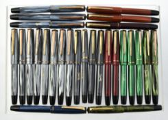 A collection of Merlin fountain pens