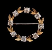 A diamond circlet brooch