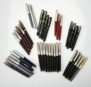 A collection of various fountain pens