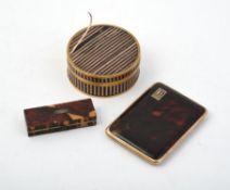 Y A 9 carat gold and tortoiseshell cigarette case by Asprey