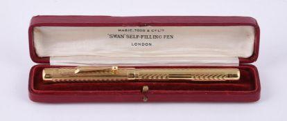 Mabie Todd & Co., Swan fountain pen, circa 1935