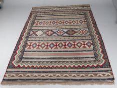 A West Persian flatweave rug
