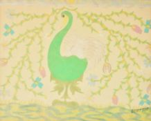 λ Scottie Wilson (Scottish 1889-1972), Swan
