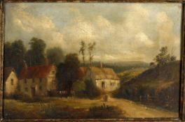 Manner of Alfred Henry Vickers (1834-1919), Landscape with cottages