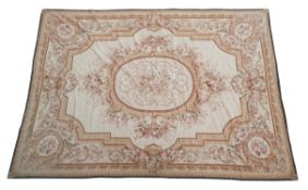 A large wool floral carpet in the Aubusson taste
