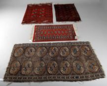 Four Turkoman pattern rugs including antique rug- possible Ersari