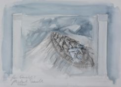 λ Michael Sandle (British b.1936) , Study for The Rescue of the Royal Mail paddle steamer, Isle of M