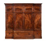 An early Victorian mahogany wardrobe