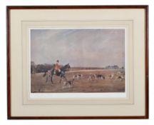 Lionel Dalhousie Robertson Edwards (British 1878-1966), The Puckeridge Hunt, 1935, set of three