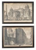 A group of four engravings after Giovanni Battista Piranesi (1720-1778)