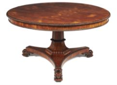 Y A George IV rosewood centre table