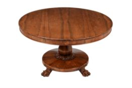 Y A William IV rosewood centre table