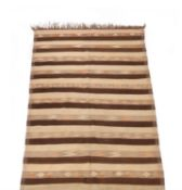 A kilim runner or gallery carpet