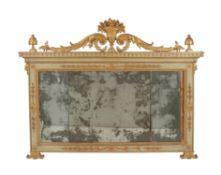 A giltwood wall mirror