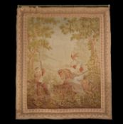 A French falconry tapestry in Historicist taste