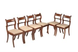 A set of six Regency dining chairs