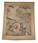 A French landscape tapestry panel