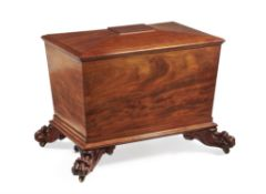 An early Victorian mahogany wine cooler