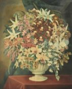 C B Durham (British 19th century), Study of flowers in a vase
