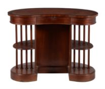 A walnut desk