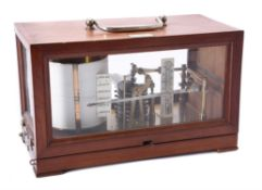 Y A French mahogany cased barograph