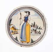 A Continental faience charger
