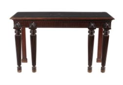 A mahogany serving table in George III style