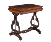 Y A William IV rosewood side table