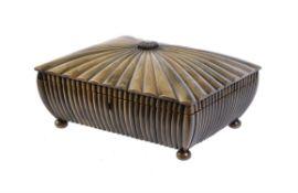 A Vizagapatam horn covered sandalwood work box