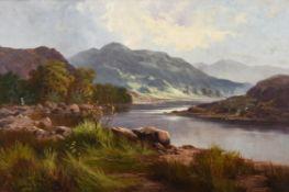 S. Johnson (British fl. 1890s), Mountain landscape