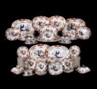 A Mason's Ironstone Imari pattern composite part dinner service