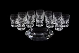 Baccarat, Eve Harcourt, a set of twelve cut and moulded glass tumbler