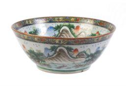 A Cantonese 'Landscape' bowl